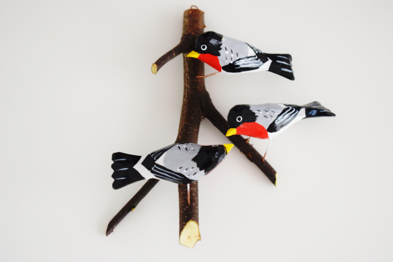 Ptak Drewniany Gil Mały Zestaw 3 Szt Wildlife World Dzika